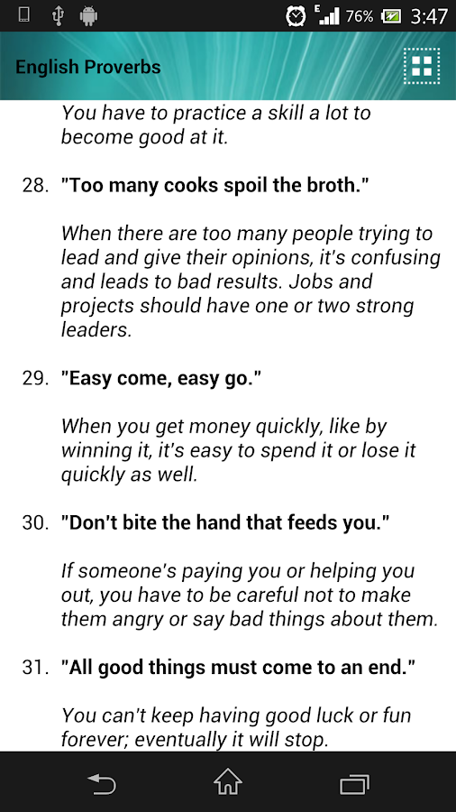 proverbs for essays