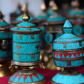 Prayer wheels by Prasanta Das - Artistic Objects Other Objects ( decorative, buddhist, prayer wheels. )