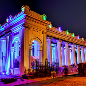 Prinsep Ghat at Night by Arindam Chakrabarty - Buildings & Architecture Public & Historical (  )
