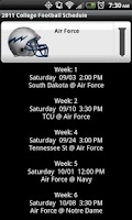 Screenshot of College Football Helmet Sched
