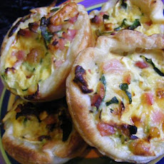 Mini Bacon & Zucchini Pies