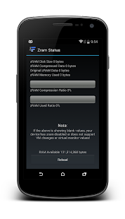 Zram Settings (deprecated) - screenshot