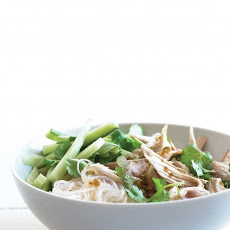 Asian Noodle Salad with Chicken and Cilantro