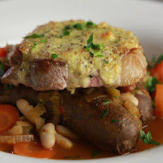 Pork Chops With Sausage And Bean Casserole