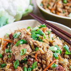 Thai Basil Chicken Roasted Cauliflower and Fried Egg Recipe | Yummly