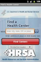 Screenshot of Find a Health Center