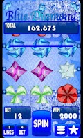 Screenshot of Blue Diamond Slot Machine