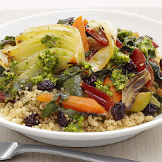 Vegetable Couscous with Moroccan Pesto