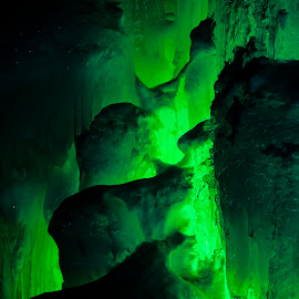 Green Melt by Joseph Hemphill - Landscapes Caves & Formations