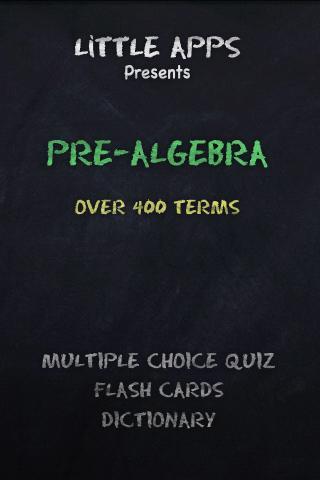 400+ PRE-ALGEBRA Terms Quiz