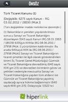 Screenshot of Türk Ticaret Kanunu - Yeni TTK