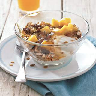 Maple-Coconut Granola with Yogurt and Mango