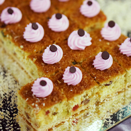 Canberry with rasberry cream cake by Alice Chia - Food & Drink Cooking & Baking (  )