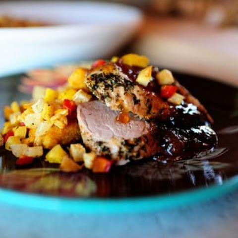 Herb Roated Pork Tenderloin with Preserves