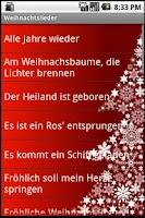 Screenshot of Weihnachstlieder Free