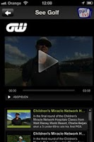 Screenshot of Golf TV