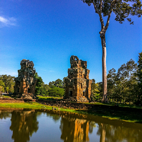 Old Temples in Siem Reap, Cambodia by Chivin Doung - Landscapes Forests ( history, temple, landscape, cambodia, siem reap )