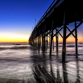 Carolina Beach by Lou Plummer - Buildings & Architecture Bridges & Suspended Structures