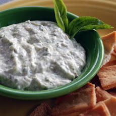 Basil Parmesan Dip (Cooking Light)