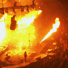 Live Fire! by Joey Booth - News & Events Entertainment ( music, concert, rock, rockroll, stage, fire )
