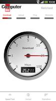 Screenshot of COMPUTER BILD Netztest