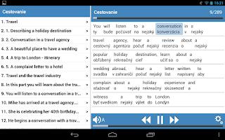 Screenshot of Angličtina pre cestovanie