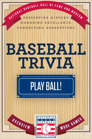Baseball Hall of Fame Trivia