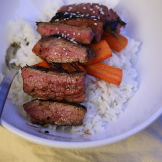 Rice Bowl with Miso-Marinated Flank Steak