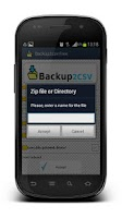 Screenshot of Backup2CSV Free Backup To CSV