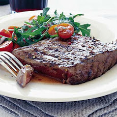 Coriander Steaks With Tomato & Rocket Salad