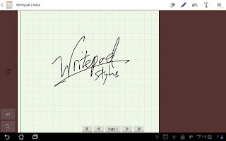 Screenshot of Writepad Stylus