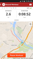 Screenshot of Map My Ride+ GPS Cycling