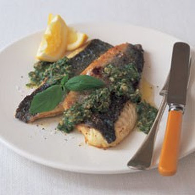 Sea Bass with Salsa Verde