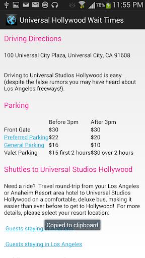 Universal Hollywood Guide Pro - screenshot