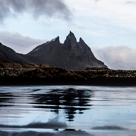 Batman mountain. by Runólfur Hauksson - Landscapes Mountains & Hills ( sand, peeks, reflection, iceland, mountain )