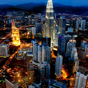 KL city nightscapes by Woo Yuen Foo - City,  Street & Park  Vistas
