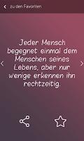 Screenshot of Zitate + Sprüche