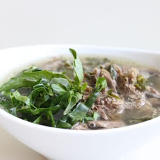 Aromatic Beef Soup with Mushrooms and Chard