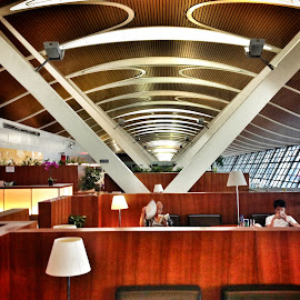 Shanghai airport by Chris Robson - Travel Locations Air Travel ( building, people )