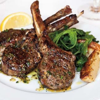 Grilled Lamb Chops with Kokkari Dressing