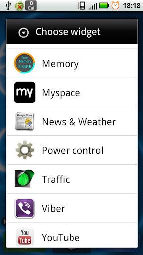 Memory Widget