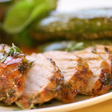 Gingery Roast Pork with Thyme
