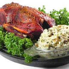 Roast Duck with Wild and Brown Rice Stuffing