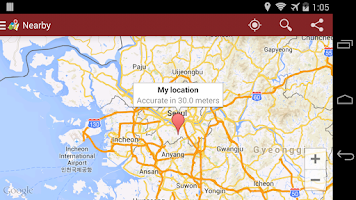 Screenshot of MyDirections-Google Map ext.