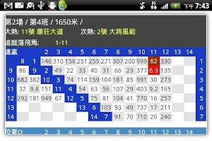 Screenshot of HK Racing Infocast 跑馬機
