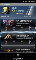 Screenshot of PSN Trophies