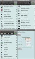 Screenshot of Construction calculators trial