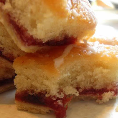 Strawberry Jam Tray Bake
