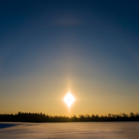 Sundog by Chris Pepper - Landscapes Weather ( beautiful sunrise, snow, sundog, sunrise, landscape )