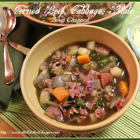 Corned Beef, Cabbage, Potato Soup Chopped